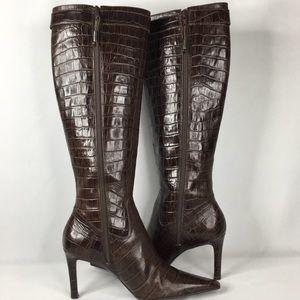Ralph Lauren Chocolate Leather Tall Boots Wmns 7B